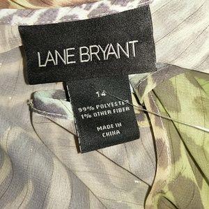 Lane Bryant Tops - ➕ PLUS 14 LANE BRYANT NWOT Animal Print Sheer Top